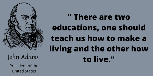 public schools in America, quote from John Adams