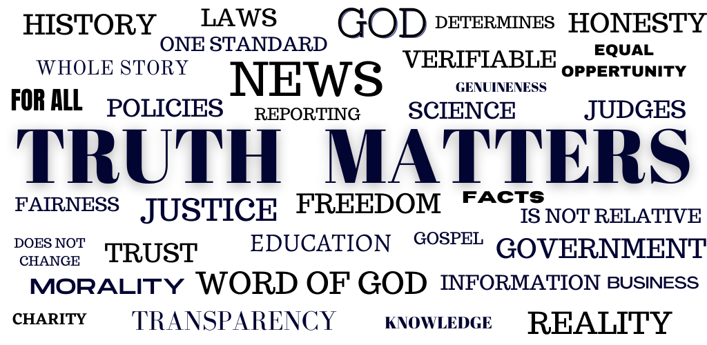 TRUTH MATTERS, WORDS ABOUT TRUTH