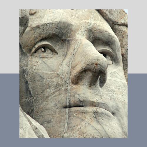 Jefferson image at Mt . Rushmore