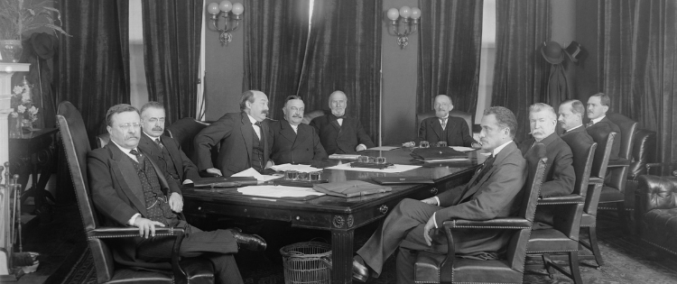 president Roosevelt and cabinet members