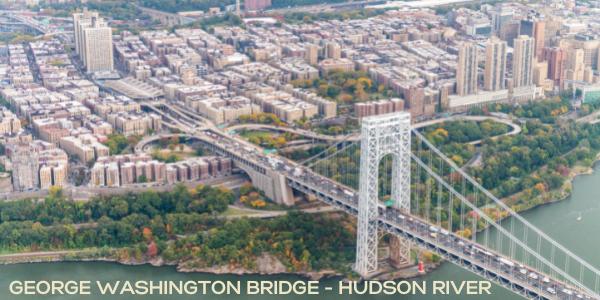 Areal view of the George Washington Bridge