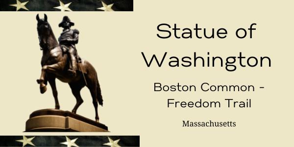 GEORGE WASHINTON STATUE IN MASS.