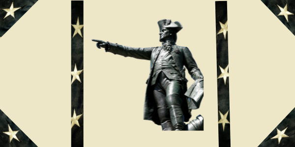 STATUE OF WASHINGTON POINTING AT SOMETHING