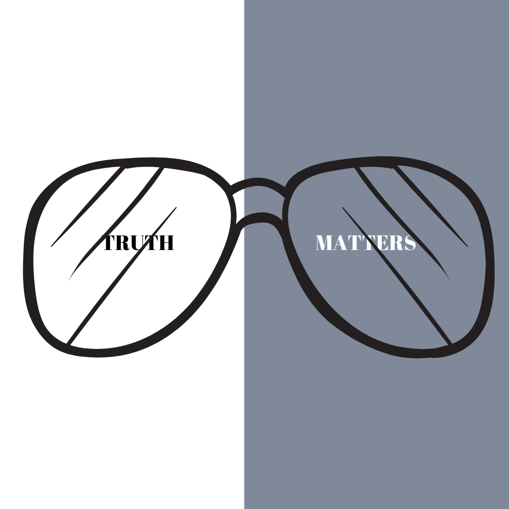 TRUTH M,ATTERS WITH GLASSES