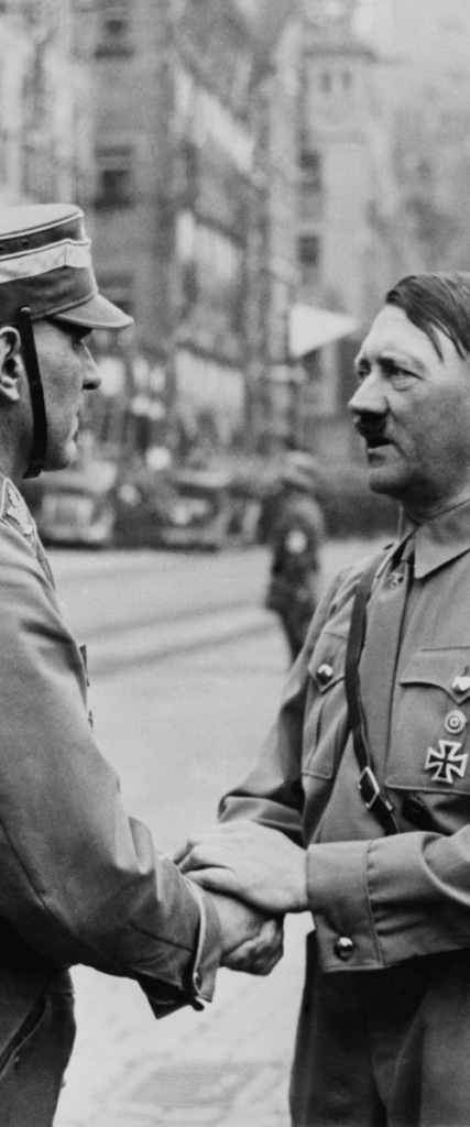 Hitler shaking hands with a Browncoat