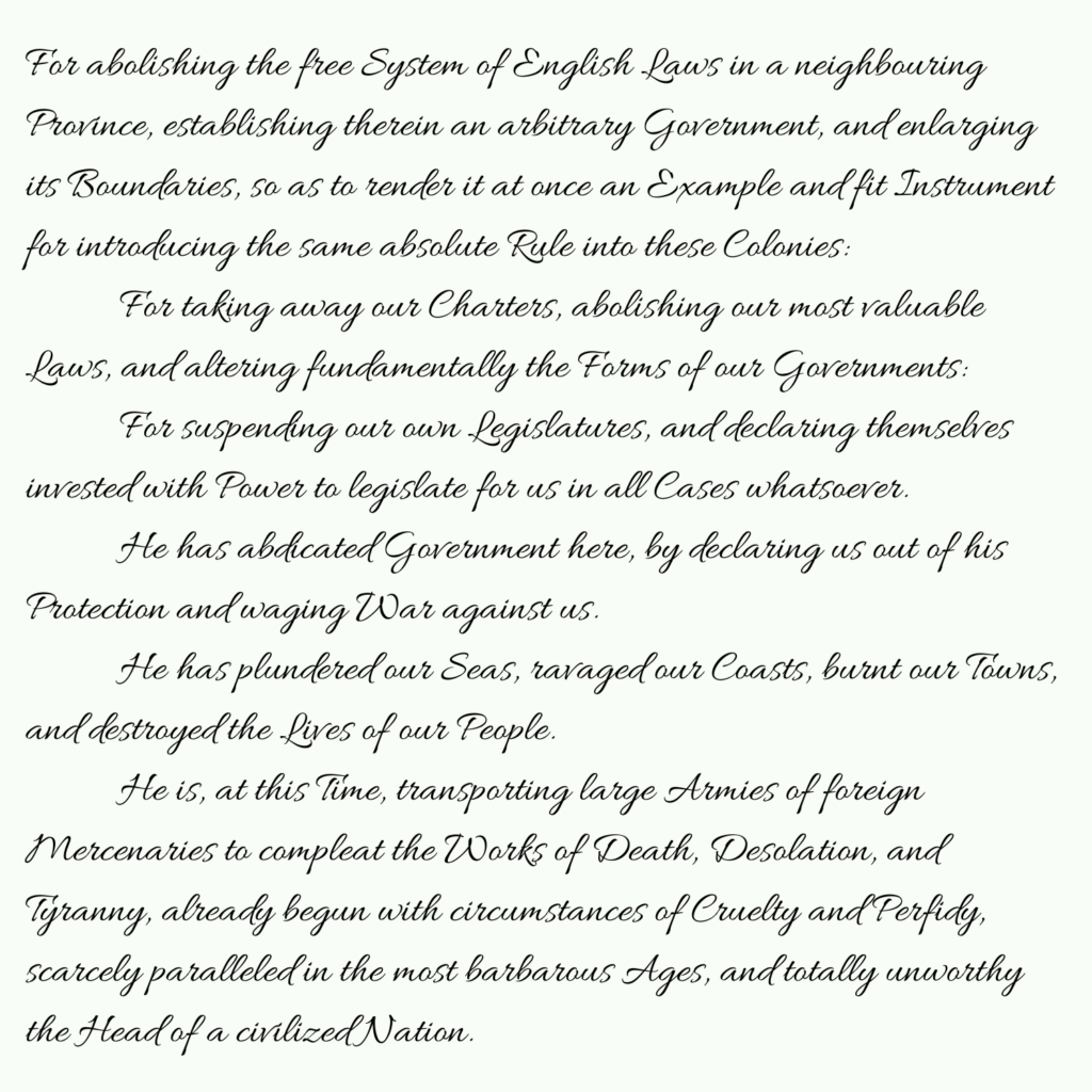 Declaration of Independence part 5