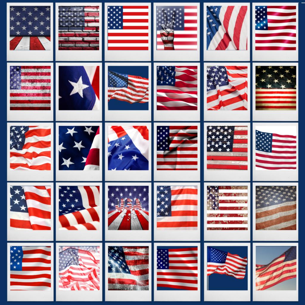 USA FLAGS COLLOGE