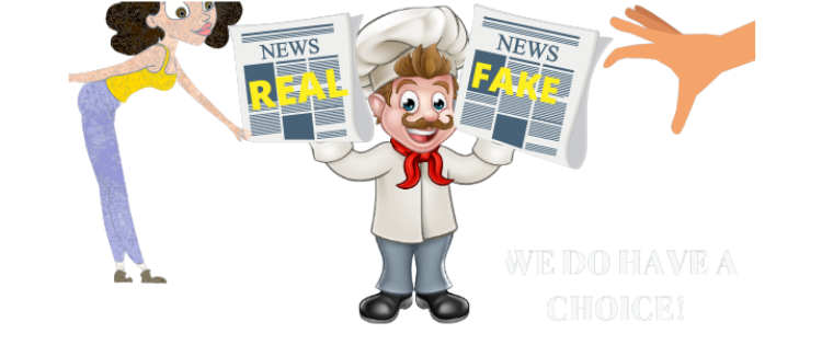 chef handing out newspapers
